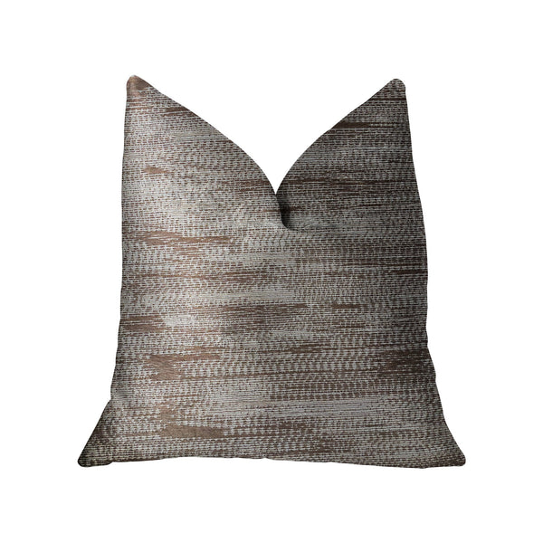 Pretty Oasis Brown Luxury Throw Pillow