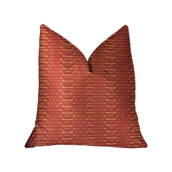 New Earth Ripple Red Luxury Throw Pillow