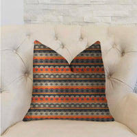 Story Circle Red, Blue and Gray Luxury Throw Pillow