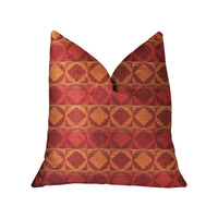 Celestial Red and Orange Luxury Throw Pillow