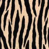 Zippy Zebra Black and Beige Luxury Throw Pillow