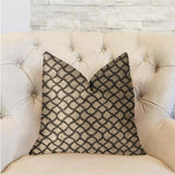 Galactic Ringlet Brown and Beige Luxury Throw Pillow