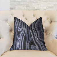 Swiss Marble Blue Luxury Throw Pillow
