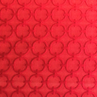 Scarlet Cercles Red Luxury Throw Pillow