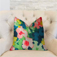 Floral Goddess Multicolor Luxury Throw Pillow