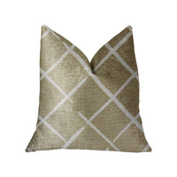 DaVinci Beige and Brown Luxury Throw Pillow