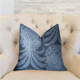 Pineapple Crush Blue and Black Luxury Throw Pillow