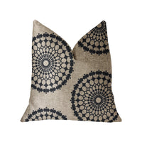 Cascade Gold, Green and Beige Luxury Throw Pillow