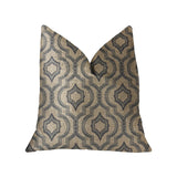 Anise Black and Beige Luxury Throw Pillow