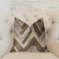 Badger Cove Brown Luxury Throw Pillow