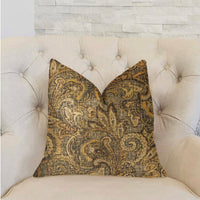 Cypress Field Brown Luxury Throw Pillow