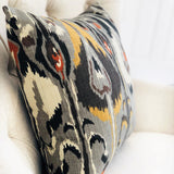 Tigerlily Gray Luxury Throw Pillow