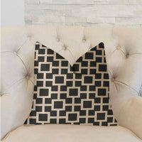 Petunia Black and White Luxury Throw Pillow