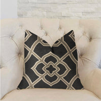 Terra Bell Black and Beige Luxury Throw Pillow