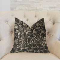Rowan Gale Black and Beige Luxury Throw Pillow