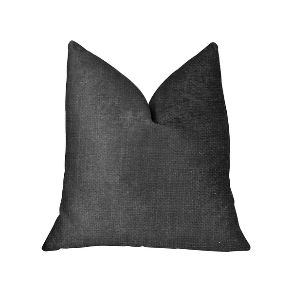 Luna Black Luxury Throw Pillow