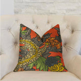 Amaryllis Dragon Multicolor Luxury Throw Pillow