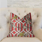 Bird Forest Multicolor Luxury Throw Pillow