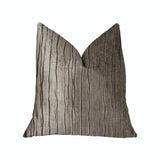 Solitude Gray Luxury Throw Pillow