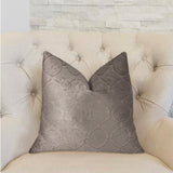 Moonlight Beige Luxury Throw Pillow