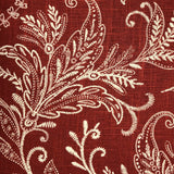 Berry Crest Vineyard Red and Beige Luxury Throw Pillow