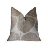 Pleasant Leaves Gray Luxury Throw Pillow