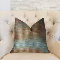 Jesper Jade Green and Beige Luxury Throw Pillow