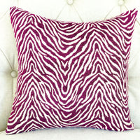Oasis Waves Purple and Beige Luxury Throw Pillow