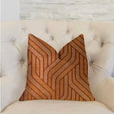 Twin Overpass Orange Luxury Throw Pillow