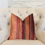 Red Cosmo Multicolor Luxury Throw Pillow