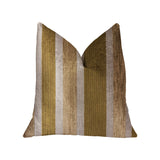 Golden Tan Lines Gold Luxury Throw Pillow