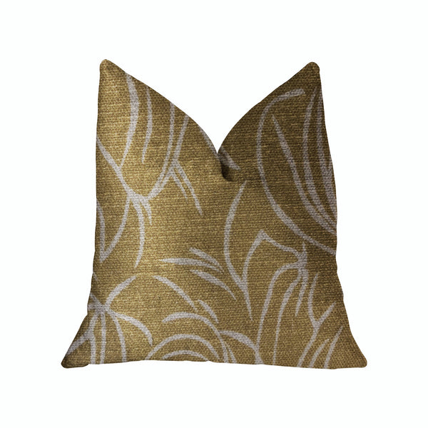Mira Mirage Gold Luxury Throw Pillow