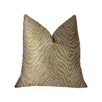Oasis Waves Yellow and Beige Luxury Throw Pillow