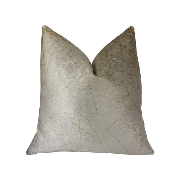 Gold Divinity Gold and Beige Luxury Throw Pillow