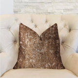 Chestnut Crush Brown Luxury Throw Pillow