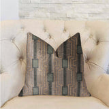 Gusto Square Blue Luxury Throw Pillow