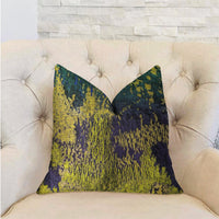 Emerald Rainforest Green, Yellow and Blue Luxury Throw Pillow