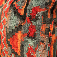 Sachi Love Red, Blue and Orange iKat Luxury Throw Pillow