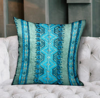Alexandrite Stripe Green Geometric Luxury Throw Pillow