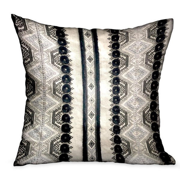 Scandanavian Stripe Black, White Geometric Luxury Throw Pillow