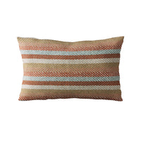Plutus Brown Tracks Stripe Luxury Throw Pillow