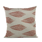 Plutus Red Large Leafs Floral Luxury Throw Pillow