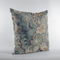 Plutus Blue Amazonian Damask Luxury Throw Pillow