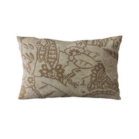 Plutus Brown Mustard Jacquard Luxury Throw Pillow