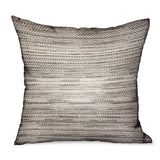 Silver Lake Weave Silver Solid Luxury Outdoor/Indoor Throw Pillow