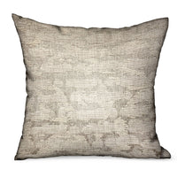 Silvered Rivulet Silver Solid Luxury Outdoor/Indoor Throw Pillow