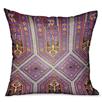 Parisian Vibes Purple Geometric Luxury Outdoor/Indoor Throw Pillow