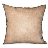 Lush Sepia Off White Solid Luxury Outdoor/Indoor Throw Pillow
