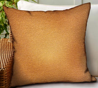 Burnt Sienna Brown Solid Luxury Outdoor/Indoor Throw Pillow