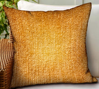 Honey Lust Brown Solid Luxury Outdoor/Indoor Throw Pillow